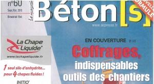 page de garde béton magazine