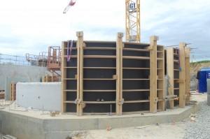 Banche bois courbe pour la réalisation du Centre Aqualudique d'Angers